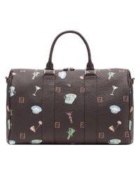 6f4fd849b918 Lyst - Fendi Monogram Duffel Bag in Brown for Men