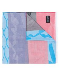 KENZO - Multicolor Printed Scarf - Lyst