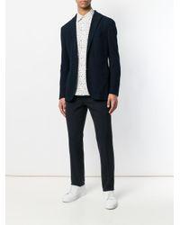 Paul Smith - Blue Floral Print Long Sleeve Shirt for Men - Lyst
