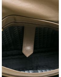 Proenza Schouler - Gray Medium Ps1 Leather Satchel - Lyst