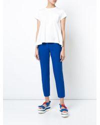 Sacai - White Jersey T-shirt - Lyst