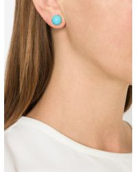 Irene Neuwirth - Blue Turquoise Stud Earrings - Lyst