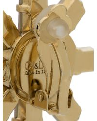 Ca&Lou - Metallic Crystal Embellished Flower Earrings - Lyst