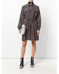KENZO - Black Patterned Shirt Dress - Lyst