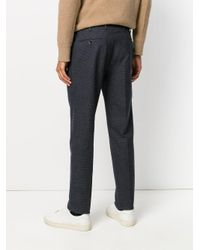 PT01 - Blue Pleated Trousers for Men - Lyst