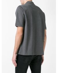 Saint Laurent - Gray Patch Embroidered Polo Shirt for Men - Lyst