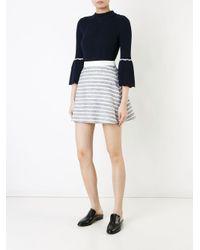 Loveless - Gray Flared Mini Skirt - Lyst
