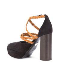 Ritch Erani Nyfc - Black Braided Strap Pumps - Lyst