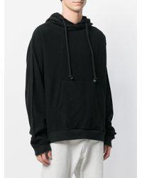 Maison Margiela - Black Oversized Drawstring Hoodie for Men - Lyst