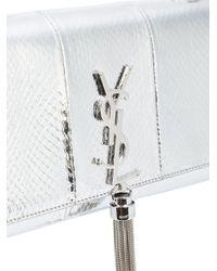 Saint Laurent - Metallic Snakeskin Effect Shoulder Bag - Lyst