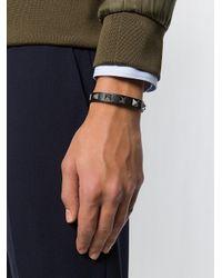 Valentino - Black Garavani Rockstud Bracelet for Men - Lyst