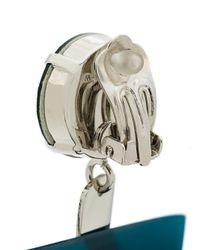 Marni - Blue Clip-on Crystal Earrings - Lyst