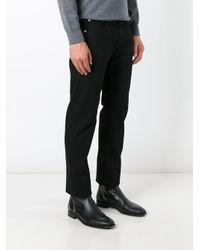 Armani | Black Straight Leg Jeans for Men | Lyst