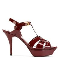 Saint Laurent - Red Classic Tribute 75 Sandals - Lyst