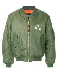 LC23 - Green Burguer Bomber Jacket for Men - Lyst