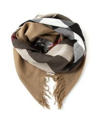 Burberry - Natural 'house Check' Scarf - Lyst