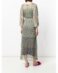 Missoni - Multicolor Perforated V-neck Dress - Lyst