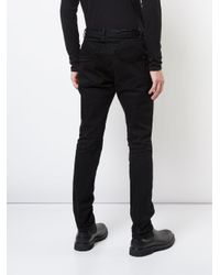 The Viridi-anne - Black Skinny Fit Trousers for Men - Lyst