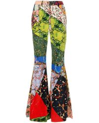 Rosie Assoulin - Multicolor Marble Exaggerated Flared Pant - Lyst