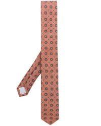 Eleventy - Brown Floral Print Tie for Men - Lyst
