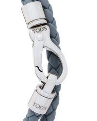 Tod's - Gray Braided Bracelet for Men - Lyst