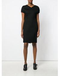Chalayan | Black Caped Pencil Dress | Lyst