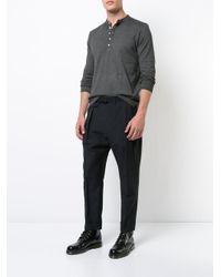 Massimo Alba | Gray Henley T-shirt for Men | Lyst