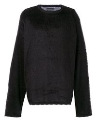 Yuiki Shimoji - Black Textured Oversized Sweatshirt - Lyst