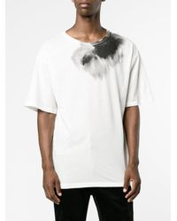 Ann Demeulemeester | White Lucian Top With Neckline Print for Men | Lyst