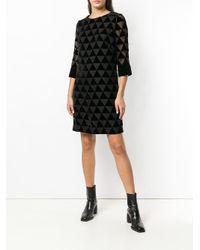 Clips - Black Triangle Mosaic Sheer Dress - Lyst