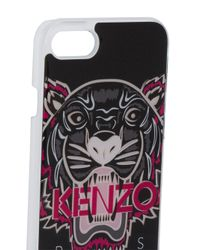 KENZO - Black Tiger Printed Iphone 7 Case for Men - Lyst