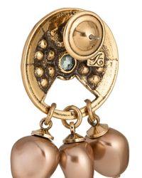 Camila Klein - Metallic Peral Embellished Earrings - Lyst