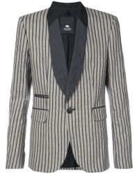 Tom Rebl - Brown Striped Shawl Collar Blazer for Men - Lyst