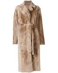 DROMe Natural Long Belted Coat