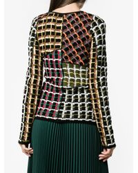Marni - Black Patchwork Style Sweater - Lyst