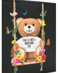 Moschino - Black Toy Bear Clutch - Lyst
