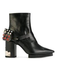 Toga Pulla - Black Embellished Heel Boots - Lyst