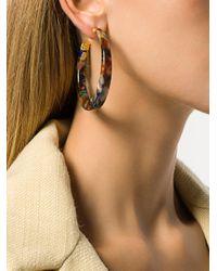 Gas Bijoux - Brown Caftan Hoop Earrings - Lyst