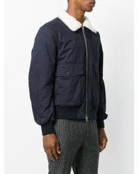 Joseph - Blue Zipped Bomber Jacket for Men - Lyst