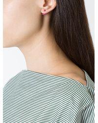 Yvonne Léon - Metallic 4 Rubies Ear Jacket - Lyst