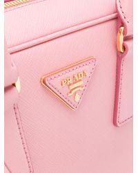 Prada - Pink Small Bowling Bag - Lyst