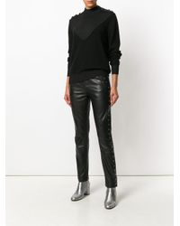 Designers Remix - Black Molly Insert Button Sweater - Lyst