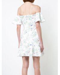 Saloni - White Wildflower Amelia Dress - Lyst