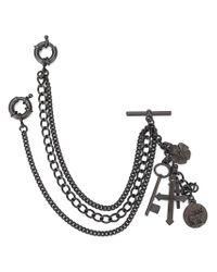 DSquared² - Black Charm Chain - Lyst