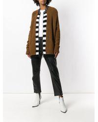 Haider Ackermann - Brown Striped Zip-up Cardigan - Lyst