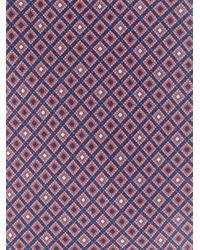 Corneliani Brown Micro Diamond Print Tie for men