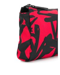 Versace - Red Logo Printed Wash Bag - Lyst