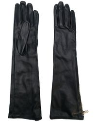 Moschino - Black Long Zipped Gloves - Lyst