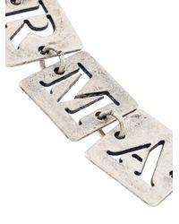 Armani Jeans - Metallic Cut Out Square Bracelet - Lyst