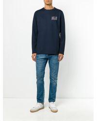 Soulland - Blue Crew Neck Sweatshirt for Men - Lyst